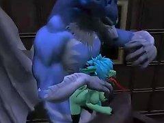 Dragonwolf In Play Blowjob