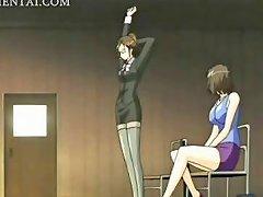 Arousing Anime Teacher Fucked In The Mens Room