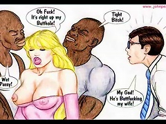 Interracial Cartoon Comic For Your Pleasure
